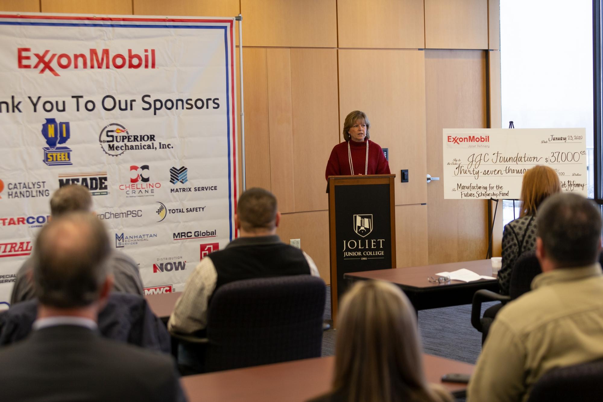 ExxonMobil donation - Dr. Mitchell