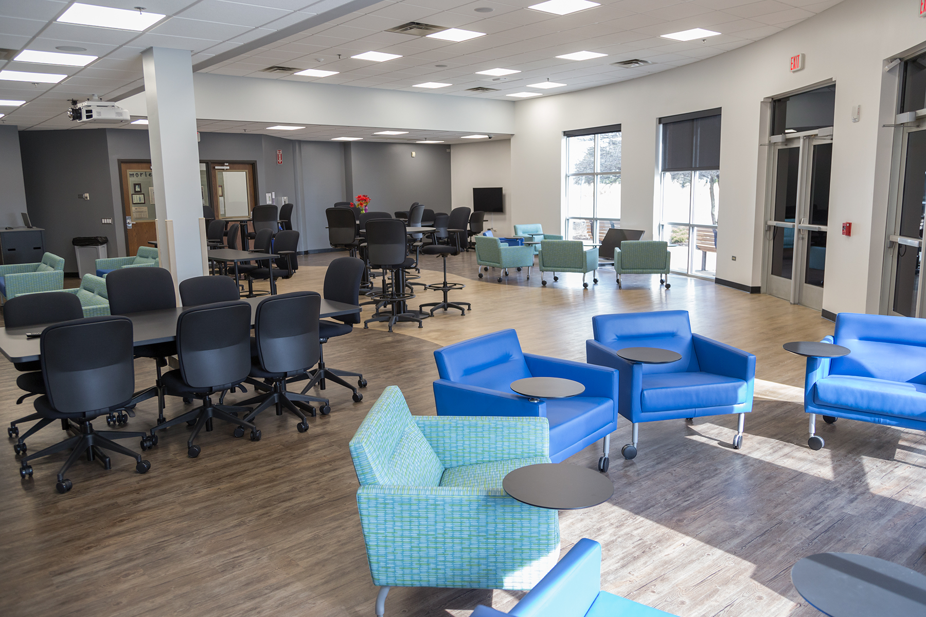 The Romeoville campus' Collaboration Classroom.