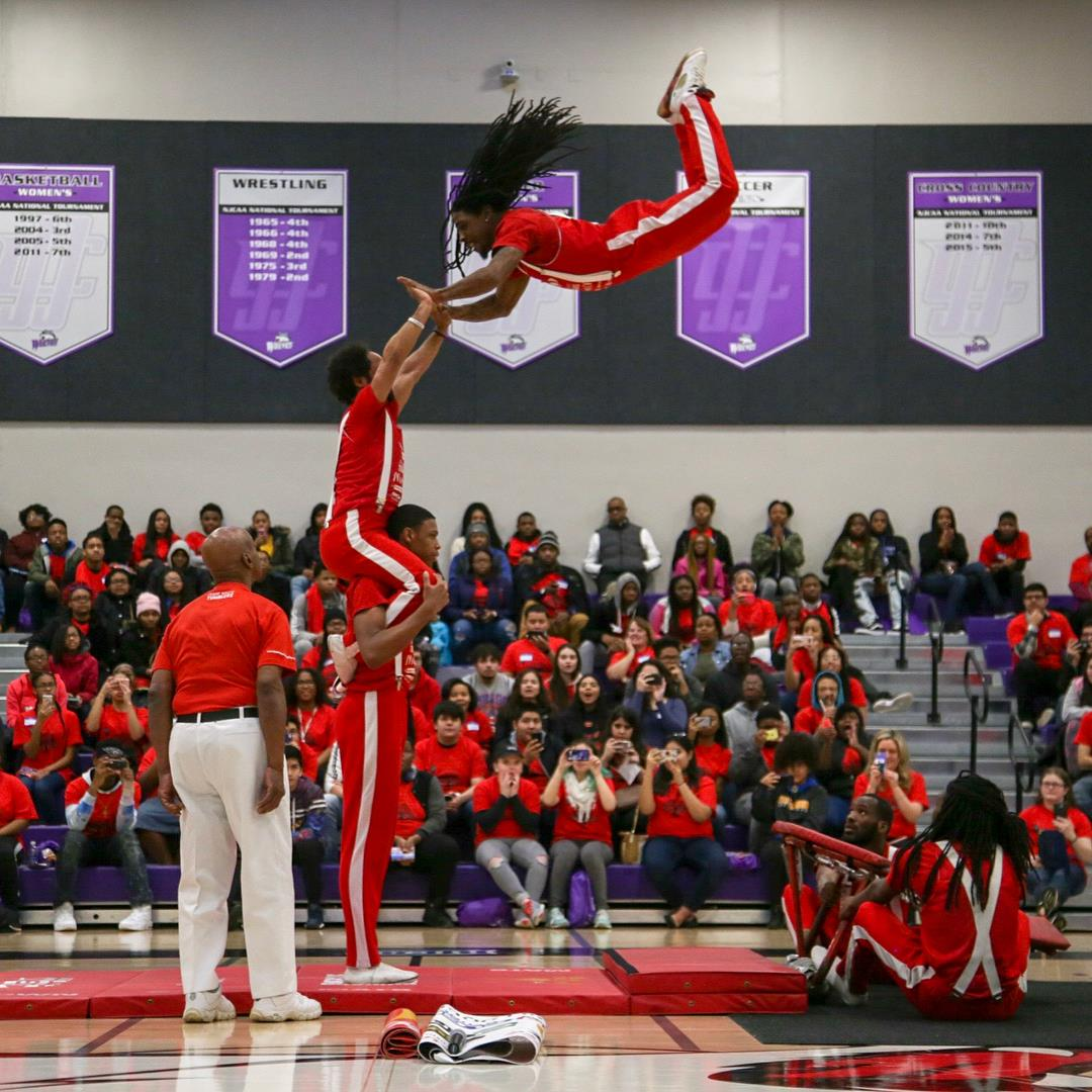 The Jesse White Tumblers perform at TRIO Days.