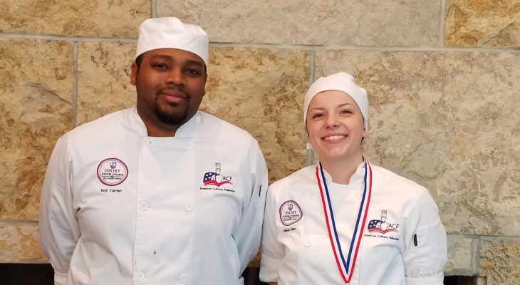 Culinary Arts Student Rob Carter (Left) and Allison Sims (Right)