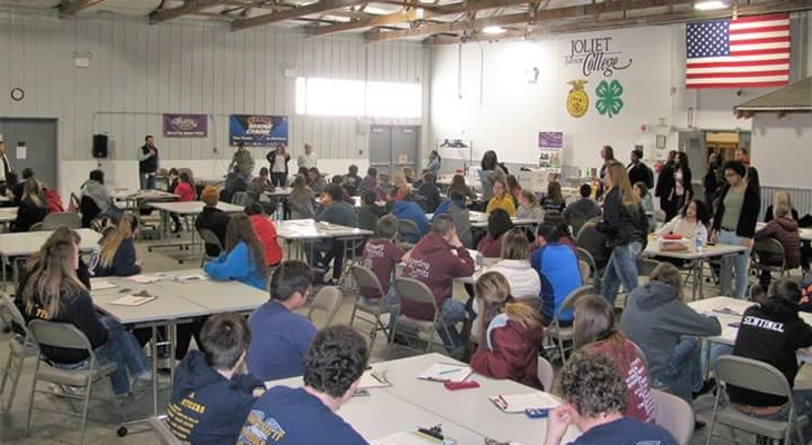 Students from Illinois High Schools Gathered for Three Agriculture Competitions at JJC