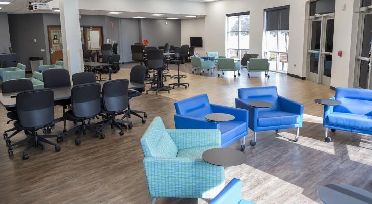 The Romeoville campus' Collaboration Classroom.