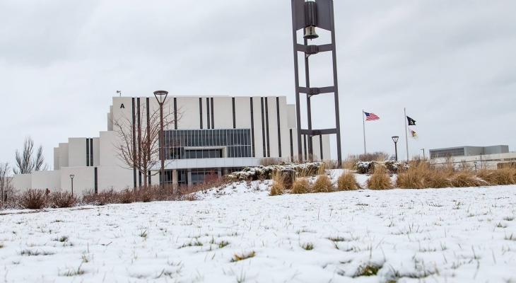 Main Campus snow