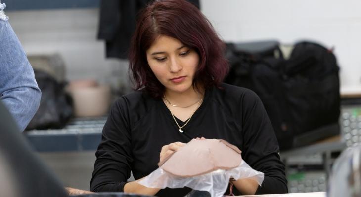 students making a ceramic bowl