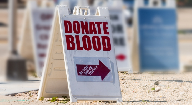 blood drive sign