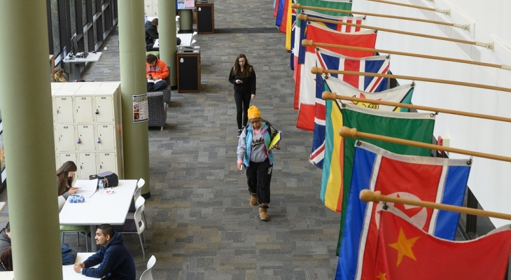 Students on concourse